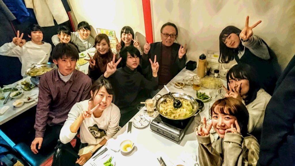 現役教え子+元教え子との忘年会~(^_-)-☆