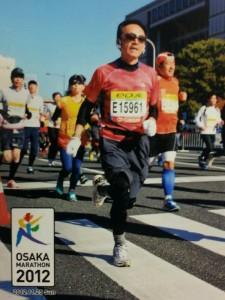 大阪マラソン、走行中の写真です!