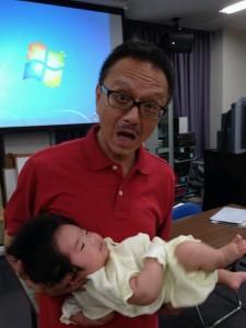 赤ちゃん抱っこ&飲み会での還暦バースデー祝い~♪♪
