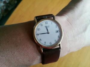 2か月ぶりに戻ってきたぼくの腕時計……。