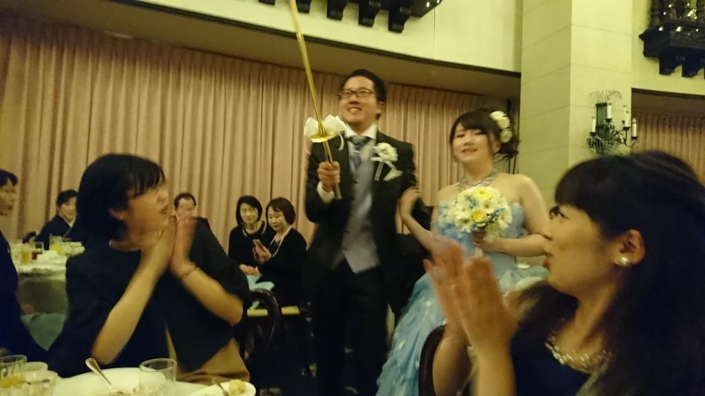お幸せに! 元教え子の結婚式でした~(^_-)-☆