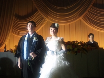 教え子の結婚披露宴に出席して~♪♪