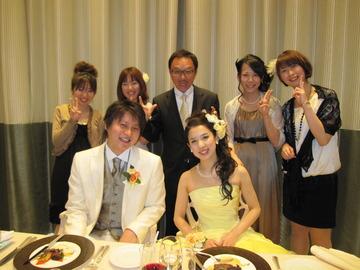 教え子の結婚式でした~♪